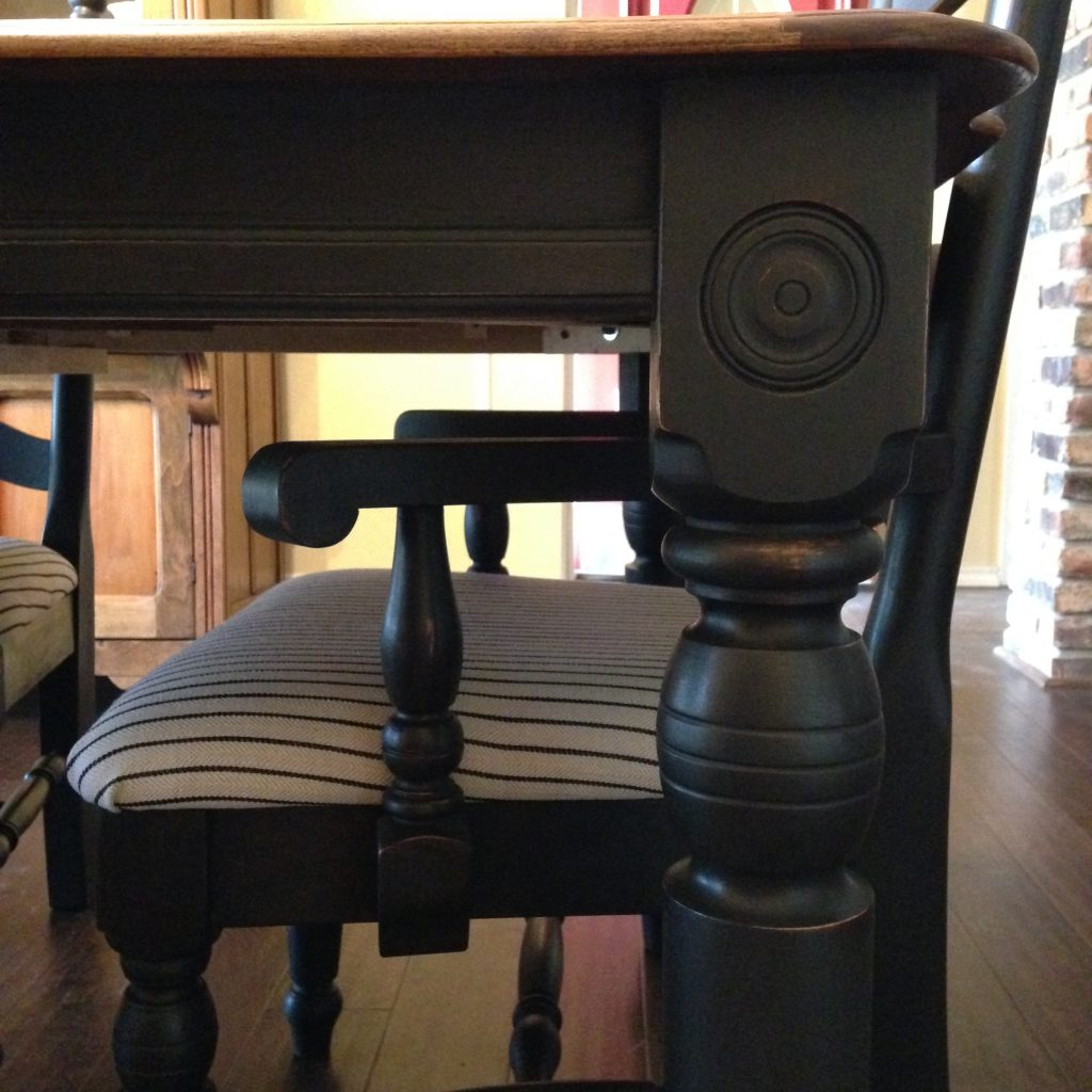 Black Dining Set (details)
