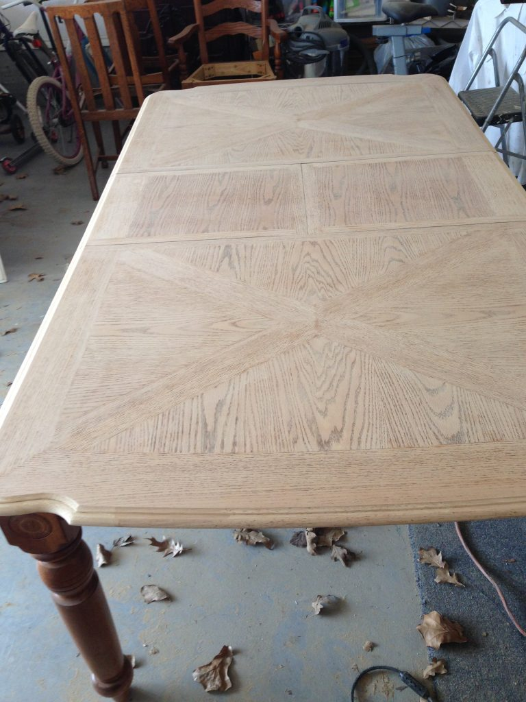 Pattern Table (after sanding)