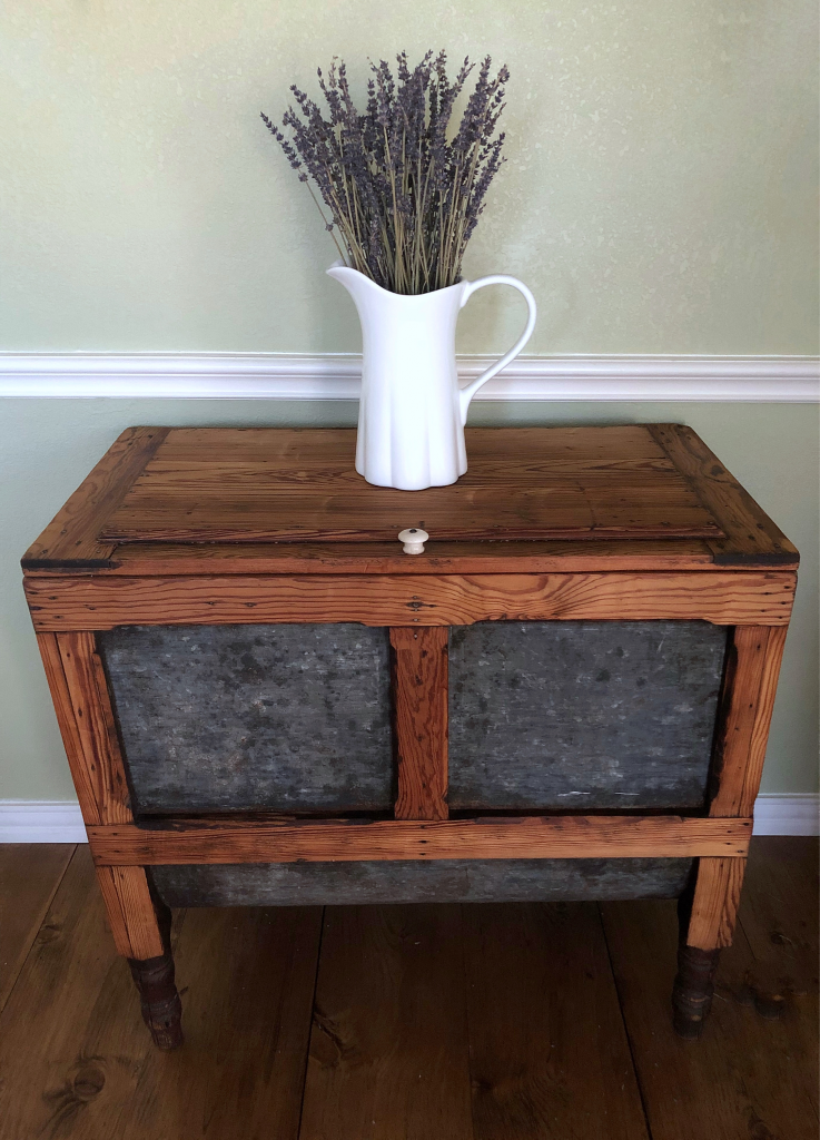 Antique Meal-Flour Bin (after)