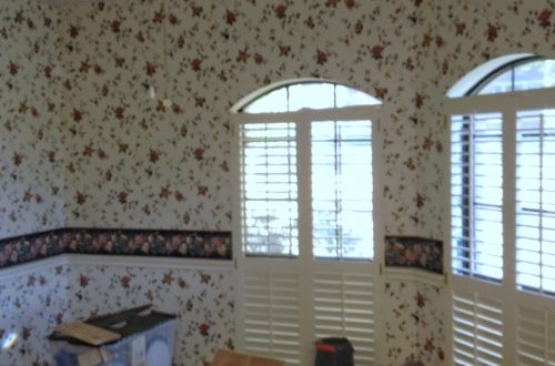 The original before picture of a breakfast room refresh.