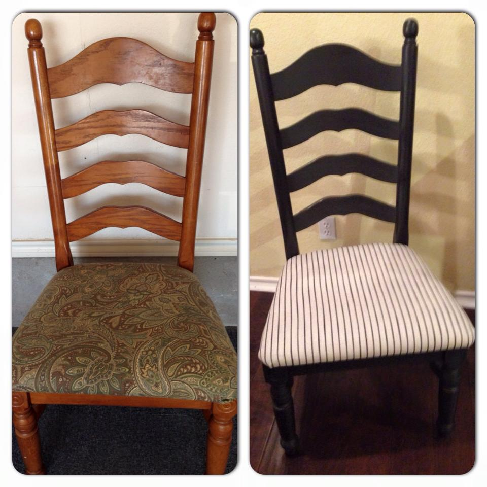 Black Dining Chairs (before and after)