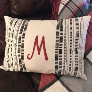 DIY Christmas Throw Pillow